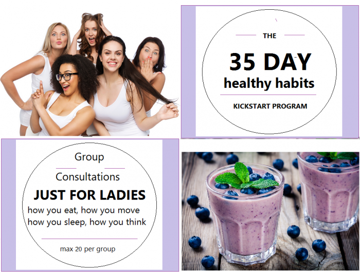 35 day healthy habits programme 20 per group
